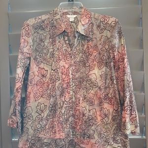 Christopher & Banks, button blouse, size L